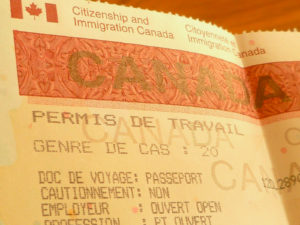 Permis de travail Québec Canada
